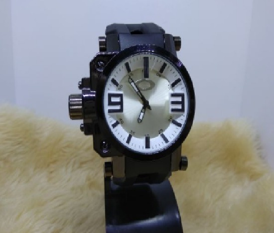 Relógio Masculino Pulso Oakley Prata Promoção Pronta Entrega