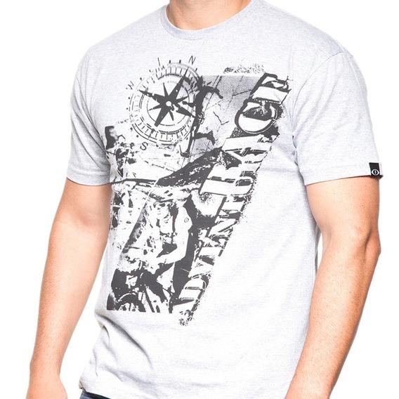Camiseta De Algodão Race Cinza