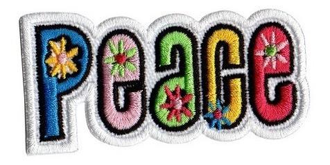 Patch Talysma Modinha P/ Jaqueta Calça Jeans - Paz C/ Flores