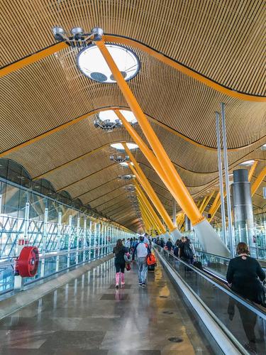 Cuadro 93-aeropuerto De Madrid-baraj 20x32 C/marco De Madera