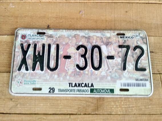 Placa Antigua De Carro Antiguo Tlaxcala Matricula Coleccion
