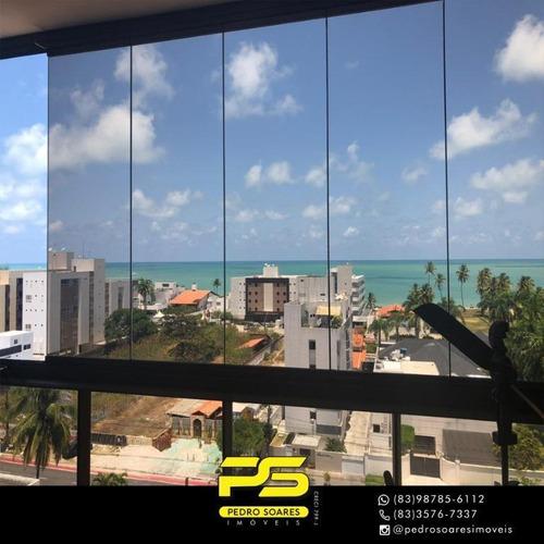 Apartamento Com 3 Dormitórios À Venda, 140 M² Por R$ 1.000.000 - Bessa - João Pessoa/pb - Ap3658