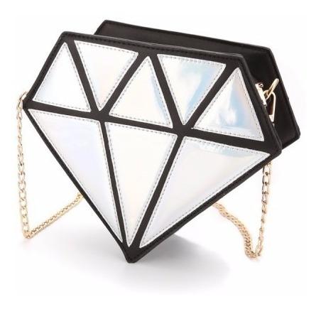 Bolsa De Diamante - Clutch Holográfica 3d Pronta Entrega