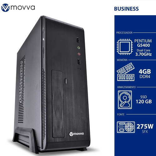 Pc Movva Iron Pentium G5400 3.7ghz 8ª Ger 4gb Ddr4 Ssd 120gb