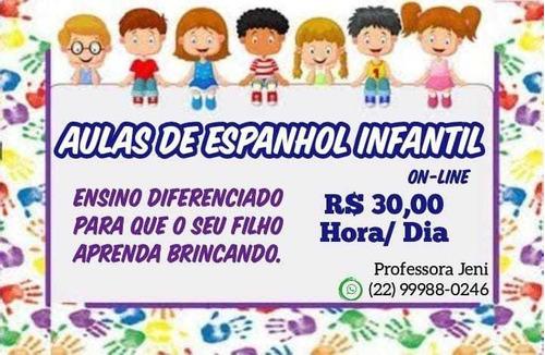 Imagem 1 de 1 de Aulas Particulares De Espanhol On-line Para Crianças