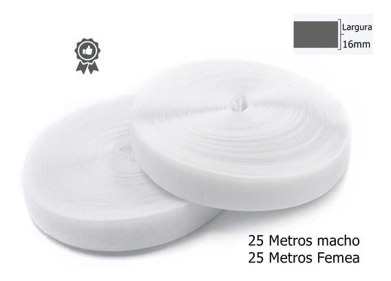 Organizador De Fio Fecho Contato 16mm Branco 50 Metros Artes