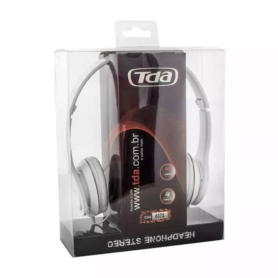 Headphone Stereo Tda Td-7200 Branco Piano Novo Melhor Preço