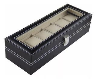 Caja Organizadora Para 6 Relojes Estuche Exhibicion