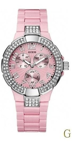 Guess - Reloj Mujer Brillantes Rosado #w14047l1 Envio Gratis