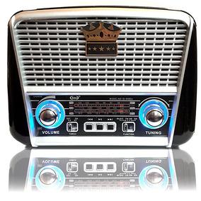 Radio Portátil Retrô Bluetooth Usb Cartão