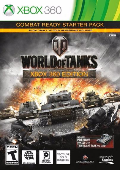 Jogo Mídia Física World Of Tanks Xbox 360 Edition