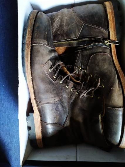 Borcego Bota Cuero Hombre Briganti Zapato Botita