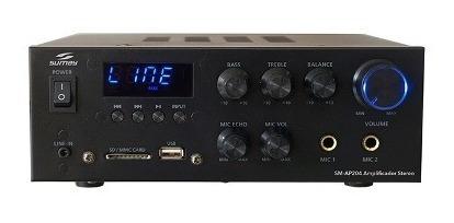 Receiver Amplificador Som Ambiente Fm Bluetooth 2 Canais 30w