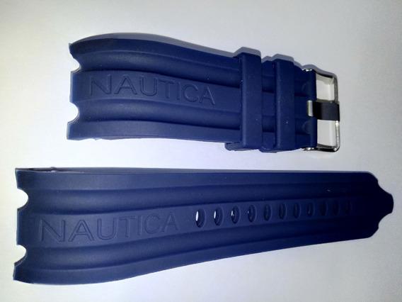 Pulseira Nautica Azul 24mm Bfd1000 N15578g