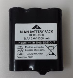 6 Bateria Kebt1300 3.6v 1300mah Intelbras Rc5001 5002 5003