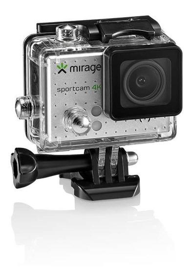 Câmera De Ação Sport 4k, Tela De Lcd 2 Prata Mirage