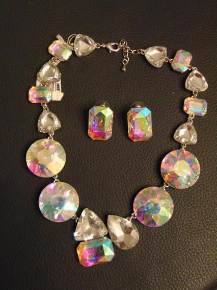 Elegante Collar Crystal Tornasol Chocker Cristales