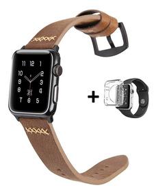 Pulseira Apple Watch Couro Legítimo Western Style + Brinde