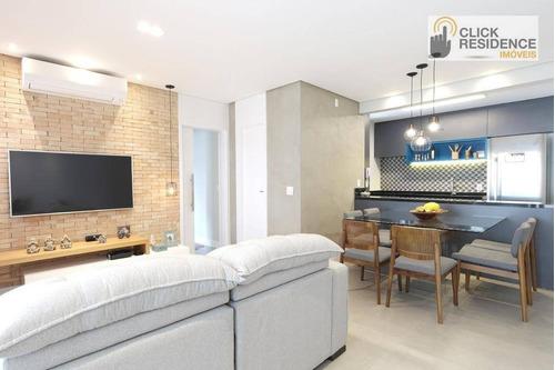 Imagem 1 de 22 de Apartamento 2 Suítes ( Sacada Gourmet - 2 Vagas ) À Venda De 94,00 M² Por R$ 742.000 - Centro - São Bernardo Do Campo/sp - Ap0889