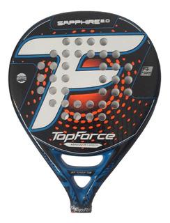 Paleta Padel Top Force Sapphire 2.0 Carbono Grip + Protector