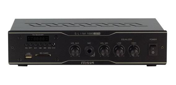 Amplificador Receiver 30w Slim 1000 Usb Fm Frahm