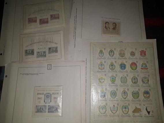 Lote Bloque Estampillas Argent. Años 60- (escudos) Y Otros