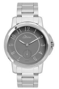 Relógio Feminino Fundo Cinza Condor