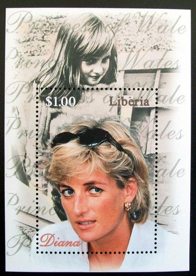 Liberia, Bloque Princesa Diana Niña 1 Sello Mint L5630