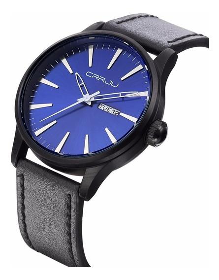 Relógio Masculino Social Casual De Luxo Pulseira Em Couro