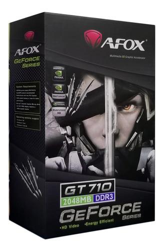 Imagen 1 de 1 de Tarjeta De Video Gt 710 2gb Ddr3 64bits Afox Nvidia Geforce
