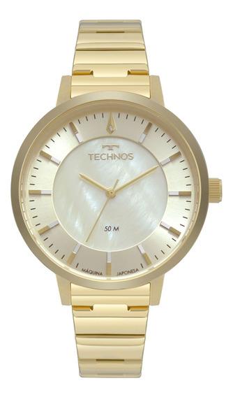 Relógio Technos Feminino Dourado - 2033cq/4x