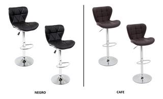 Set De 2 Dos Banco Ar Negro Y Cafe Barra Cocina Envio Gratis