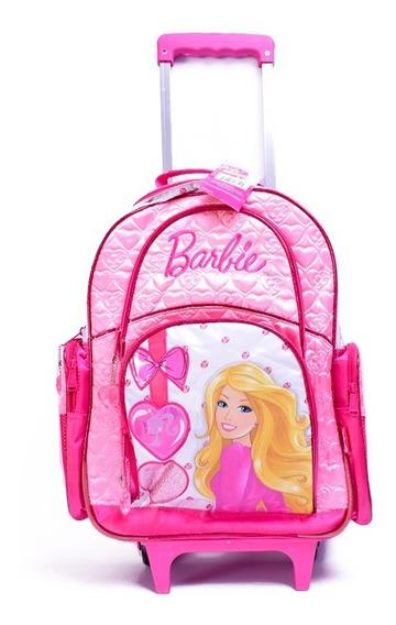 Mochila Barbie Con Carro 18 Pulgadas Escolar Original