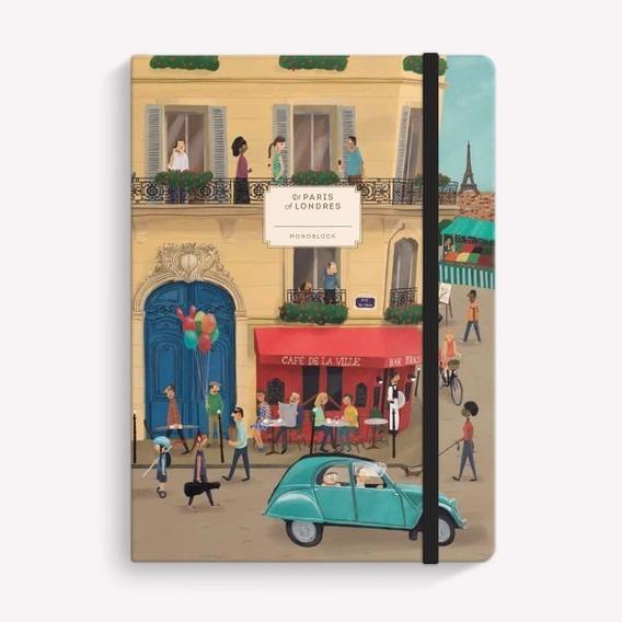 Cuaderno Viaje Paris Londres Cosido A5 Rayado Monoblock