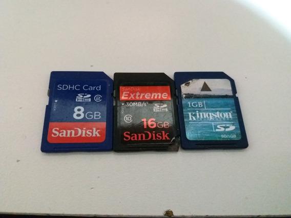 3 Cartões De Memória Se Para Máquinas Digitais E Outros