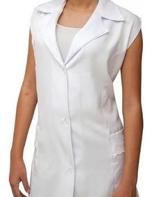 Jaleco Feminino Branco Bordado Tecido Microfibra 977