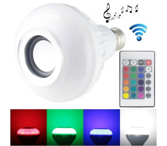 E27 Rgb Led Light Lâmpadas Caixa De Som Bluetooth Com Contro