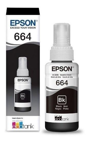 Tinta Epson T664 Black Originais L220 L395 L455 L380 L130