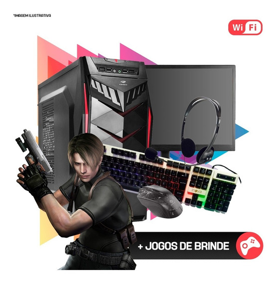 Pc Gamer Completo I3 4ª,4gb Ram Ddr3,hd 1tb,gtx 550ti 1gb