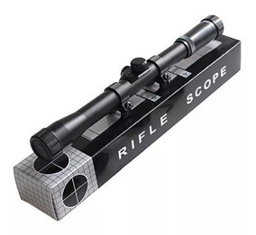Luneta Riflescope 4x20mm Com Suportes Para Trilho 11mm