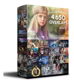 Super Pacote De 4.650 Overlays Para Photoshop + Mega Brinde