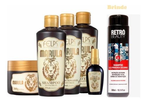 Kit Felps Marula Hipernutrição 5 Produtos + Brinde