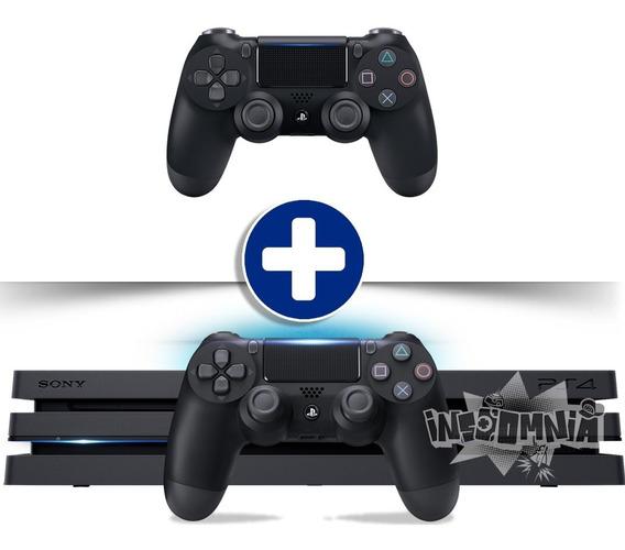 Playstation 4 Ps4 Pro 1tb + 2 Controles Bivolt Original