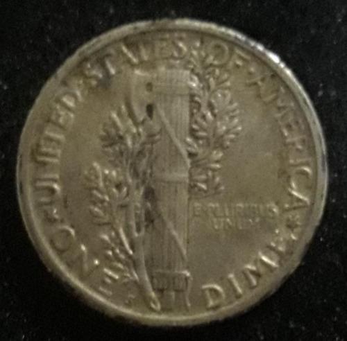 Imagem 1 de 4 de Moeda One Dime Ano 1917 Estados Unidos
