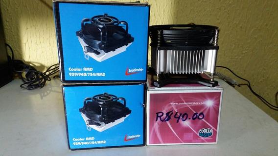 Kit Com 4 Cooler Para Pc 2 Amd E 2 Intel Para Placa Da Intel