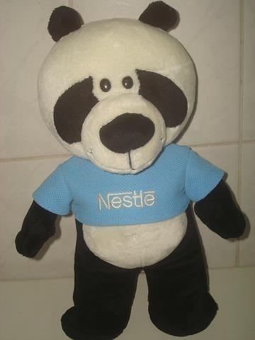 Panda Pelúcia Coleção Filhotes Da Nestlé - Mede Cm.30.