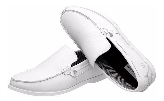 Mocassim Masculino Branco Tamanho Especial Shoes Grand