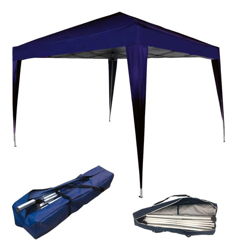 Tenda Gazebo Dobrável Sanfonada 3x3 M Azul Wwsoldas