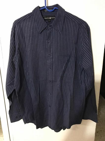 Camisa Polo L Azul Manga Larga Large L