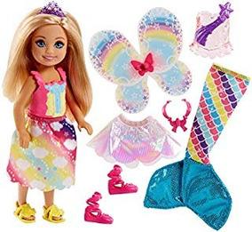 Barbie Dreamtopia Rainbow Cove Chelsea Muñeca Y Fashions Set
